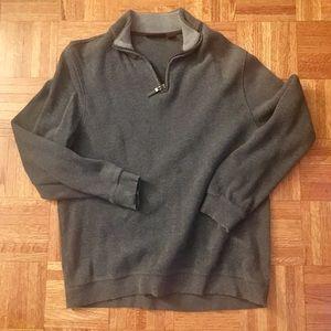 Tasso Elba Dark Gray 1/4 Zip Sweater